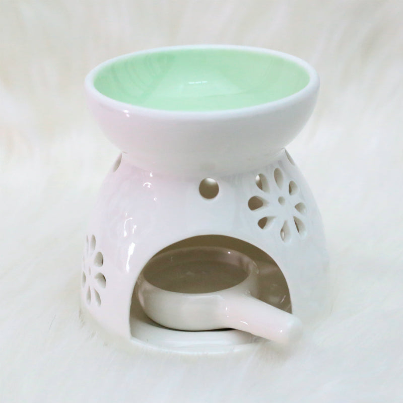 Green Essential Oil Burner