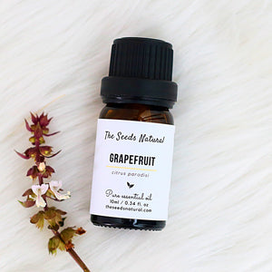 Grapefruit Pure Essential Oil, 葡萄柚精油, citrus oil, refreshing, uplifting, oily skin, acne treatment, antiseptic, boosts immune system, essential oil malaysia, the seeds natural