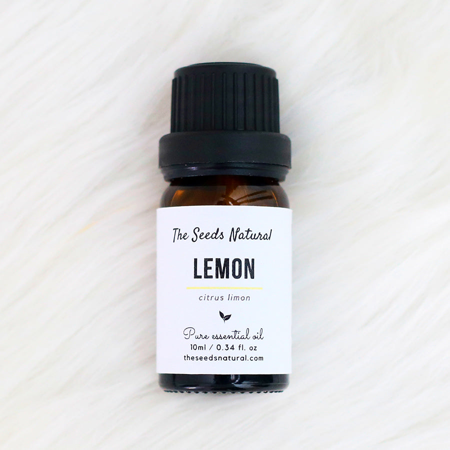 Fresh, moderate sweet and strong citrus scent. Improves your concentration and lifts up your spirit. Fights against infections. Cleanses oily skin and hair. lemon essential oil, 柠檬精油, product of Australia, essential oil malaysia, the seeds natural