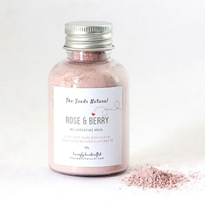 Rose & Berry Rejuvenating Pink Clay Mask