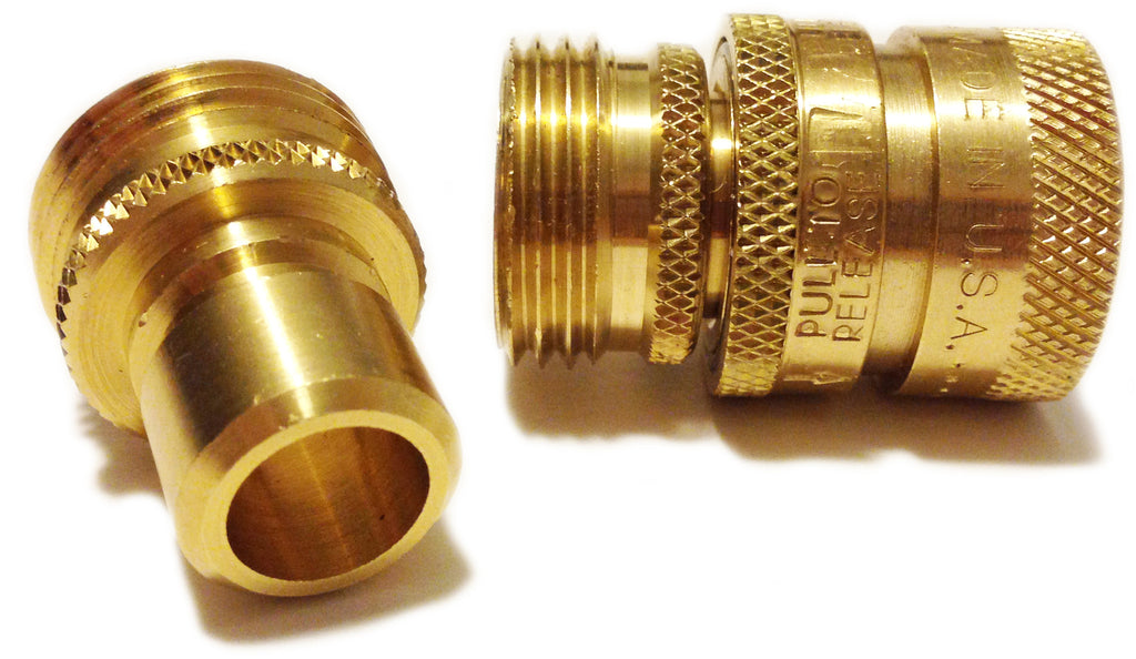 Hose quick connect fittings