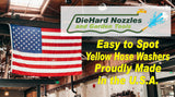 Easy To Spot Yellow Hose Washers by DieHard Nozzles and Garden Tools 12 Pack