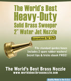 Water Jet Nozzle Solid Brass Sweeper Sprayer From the World's Best Brass Nozzle Company