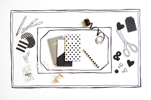 Black & White Mini Notebook Set