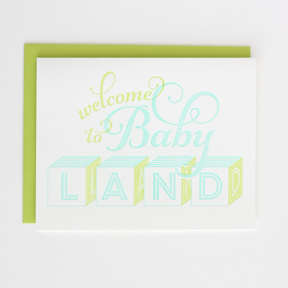 Baby Shower or New Arrival Letterpress Card for a Baby Boy