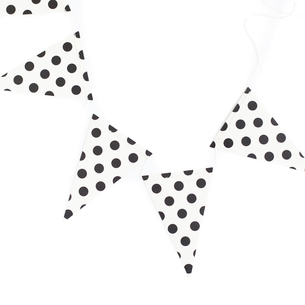 Black and White Polka Dot Banner