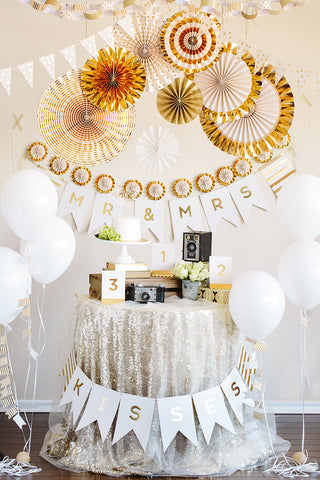 Gold Dot Vellum Banner