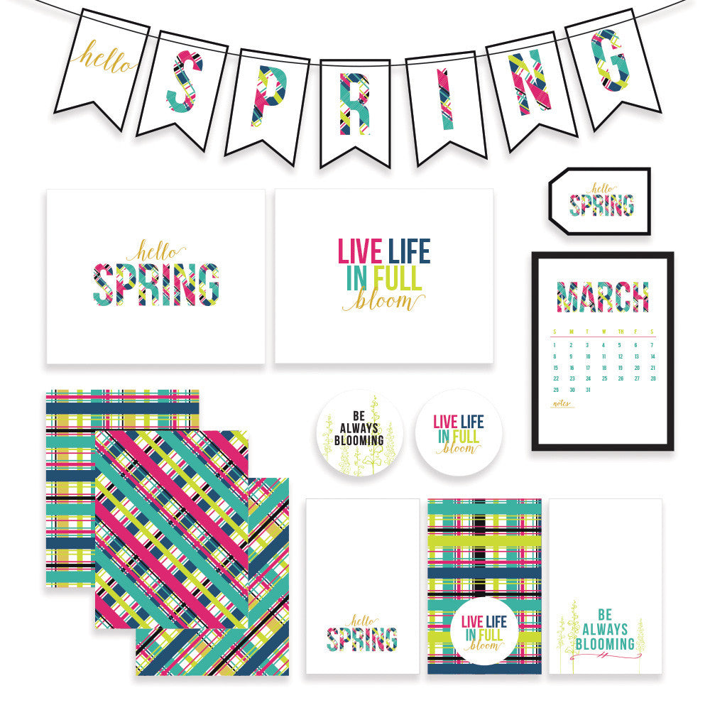 Our bright & colorful Hello Sprint printable collection will get you ready for bright sunny days ahead!