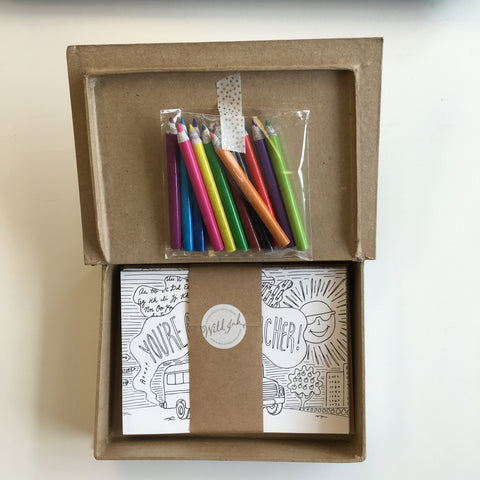Kids Coloring Cards Box Set