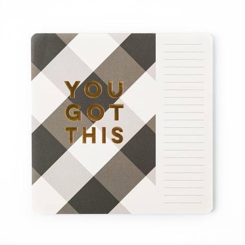 Plaid Mouse Pad Notepad