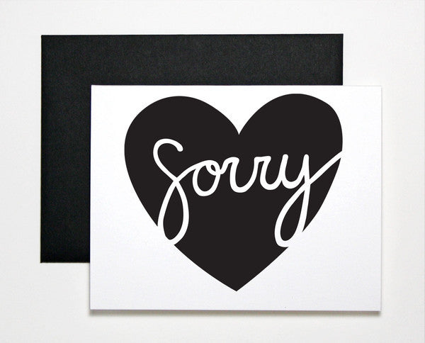 Sorry Heart Card