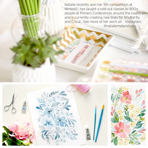 Watercolor Floral Workshop - Friday August 4th