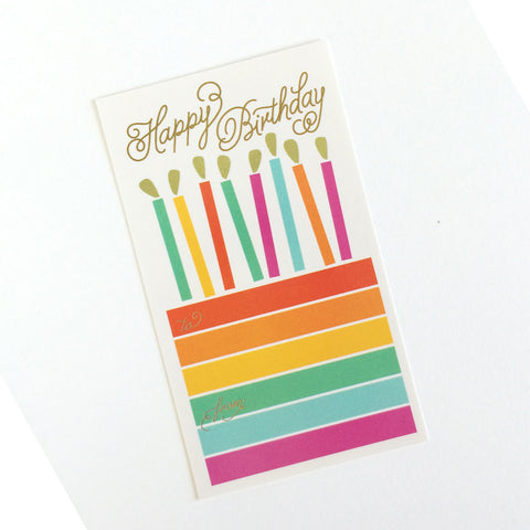 Happy Birthday Cake Stickers