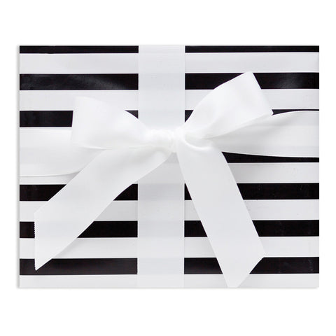 Black & White Stripe Gift Wrap
