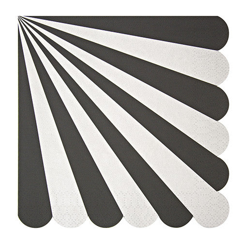 Black and White Stripes Large Napkins