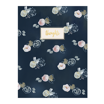 Blue Florals Thought Jotter