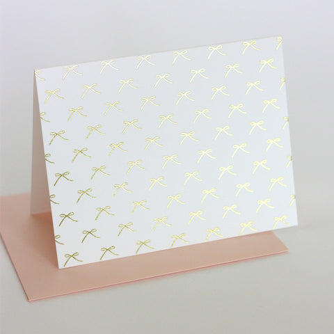 Gold Bow Card Set