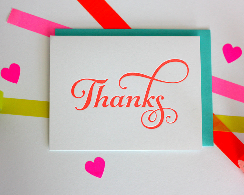 Bright Thanks Greeting Card