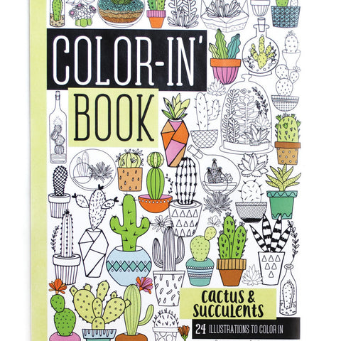 Cactus & Succulents Travel Coloring Book