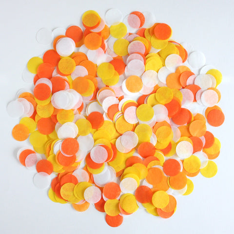 "Candy Corn 1"" Circle Confetti"