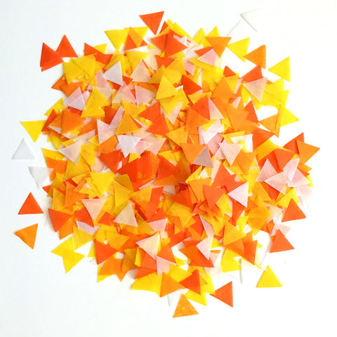 Candy Corn Triangle Confetti