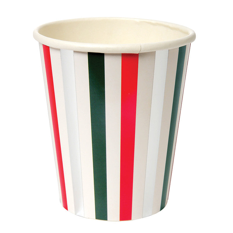 Christmas Striped Cups