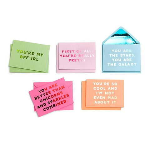 Compliment Greeting Card Set Assorted