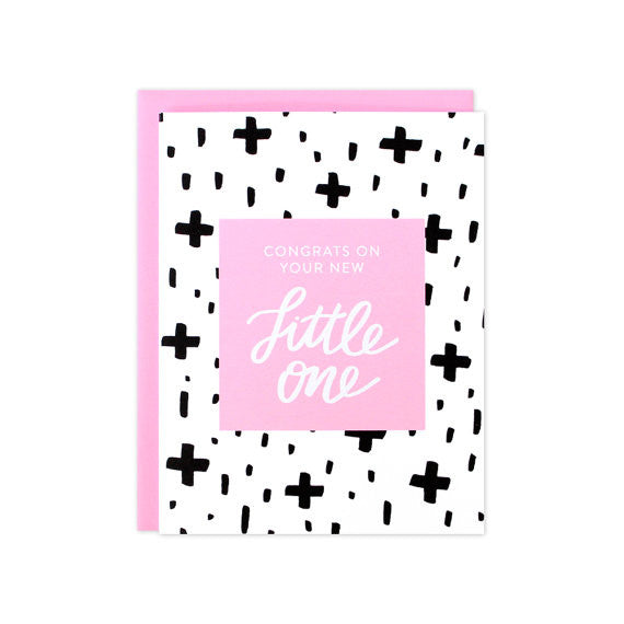 Baby Girl Congrats Card Your New Little One Pink Paper Crush