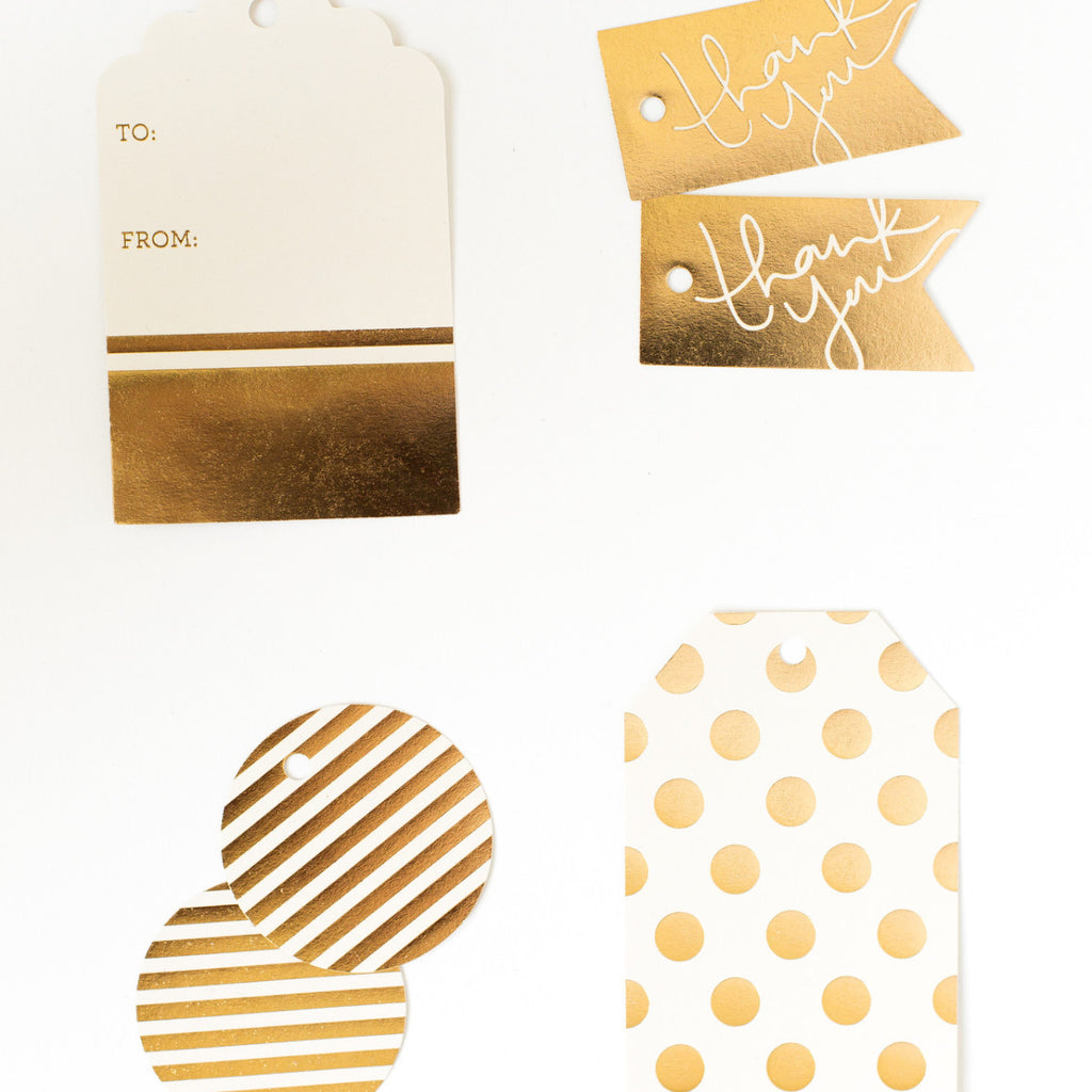 Cream and Gold Foil Gift Tags