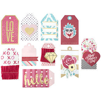Crush Layered Valentine Tags