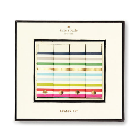 Kate Spade New York Candy Stripe Eraser Set