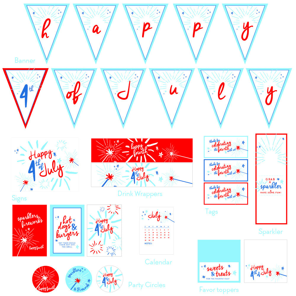 4th of July Printable Collection