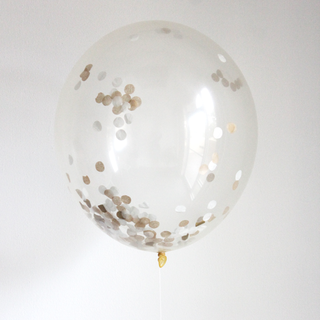 This beautiful gold confetti filled balloon will add a fun pop of color to all your celebrations.