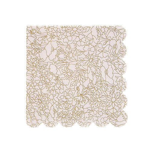 Gold foil Liberty floral small napkins