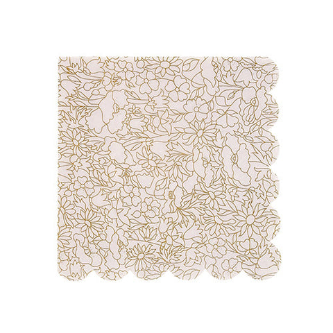 Gold Liberty Floral Small Napkins