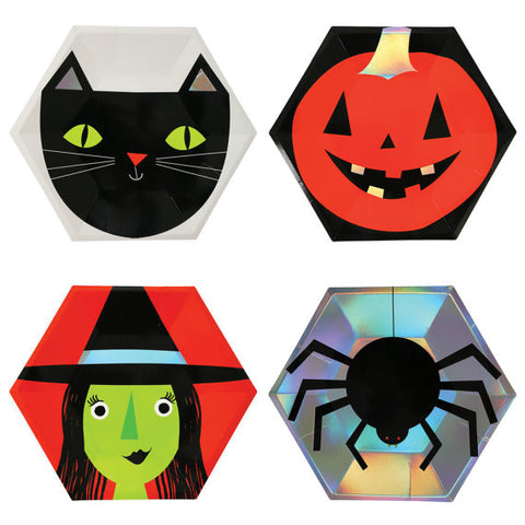 Assorted Halloween Plates