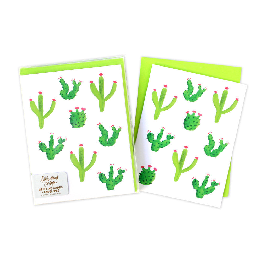 Watercolor cactus notecards