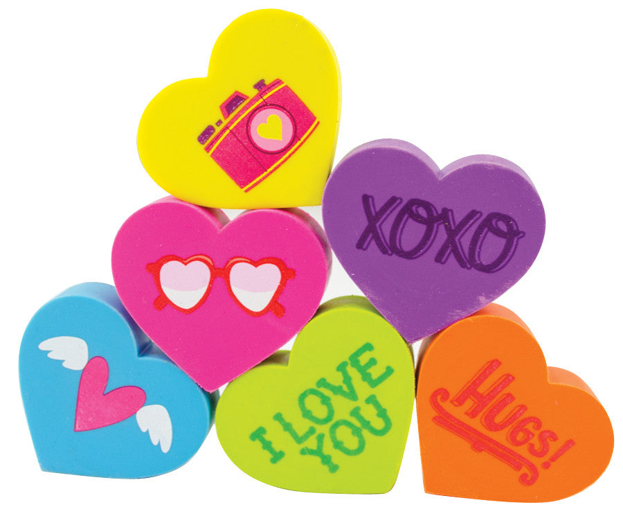 Heart Eraser Set