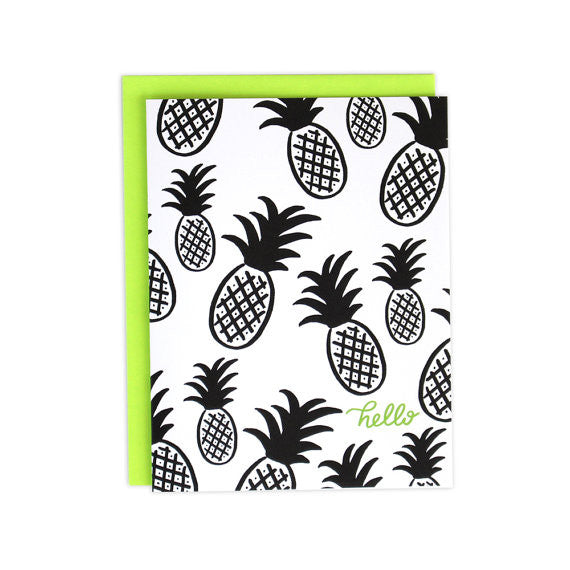 Hello Pineapple Greeting Card