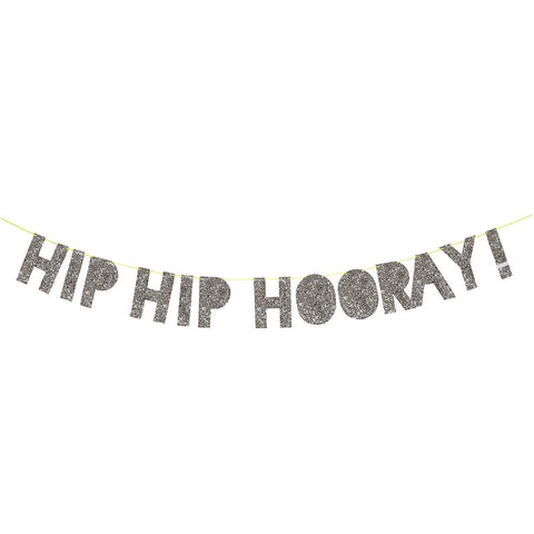 Silver Hip Hip Hooray Garland