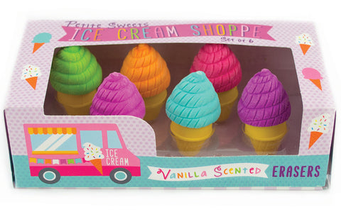 Ice Cream Eraser Set