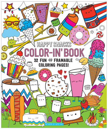 Happy Snacks Coloring Book