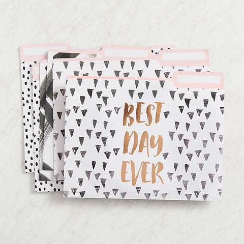 Black and White Patterned File Folders