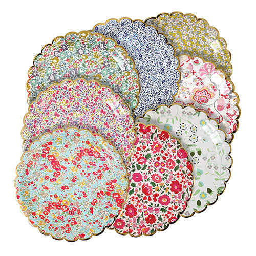 Liberty large floral paper plates