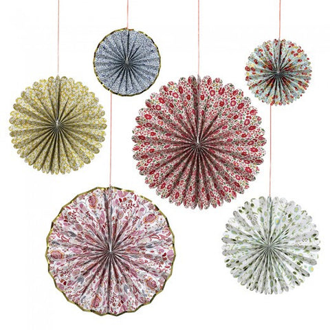 Liberty floral pinwheels/paper fans