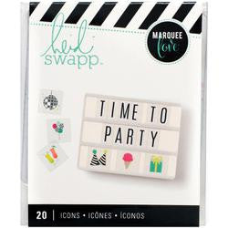Heidi Swapp Lightbox party icon inserts