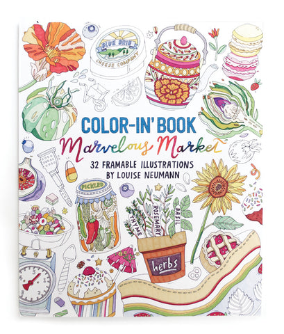 Marvelous Market Coloring Book