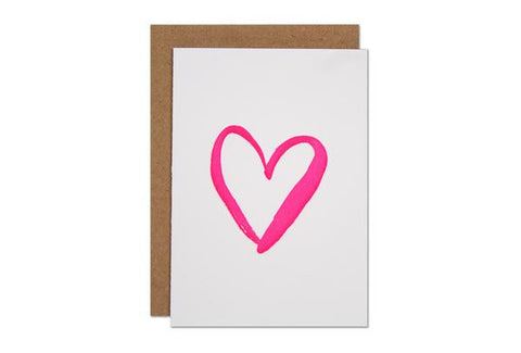 Pink Heart Mini Card