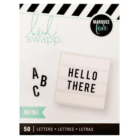 Mini lightbox black letter inserts