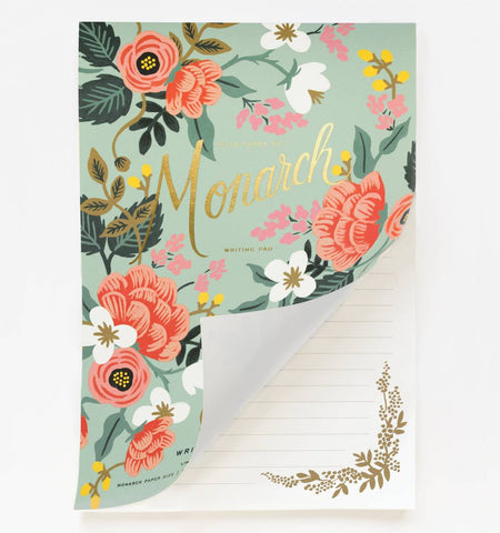 Mint Birch Monarch Writing Pad